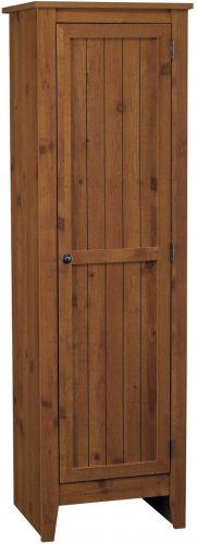 10. Ameriwood Home Single Door Pine Cabinet