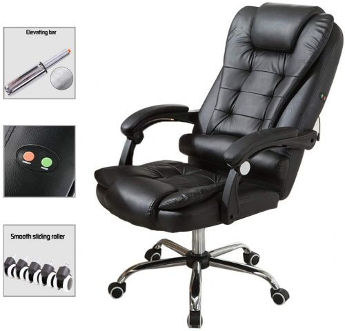 7. Sihand Office Leather Chair Executive Computer Desk