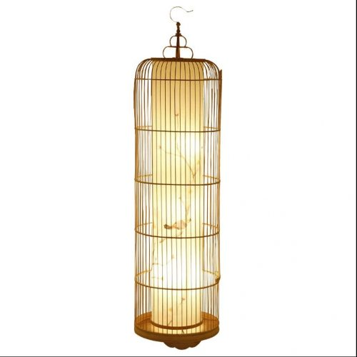 9. TangMengYun Bird Cage Floor Lamp