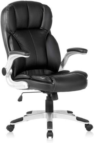 8. YAMASORO Office Chair PU Leather Executive Chair, High