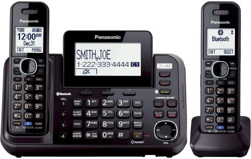 Panasonic 2-Line Cordless Phone System with 2 Handsets | 2 Line Cordless Phones