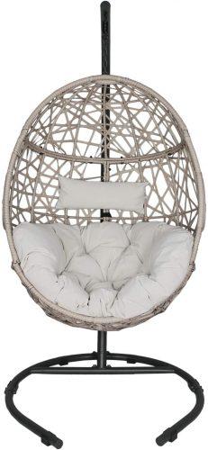 Ulaxfurniture Outdoor Patio Wicker Hanging Basket - Outdoor Papasan Chair