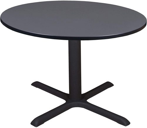 "3. Cain 48"" Round Breakroom Table- Grey"