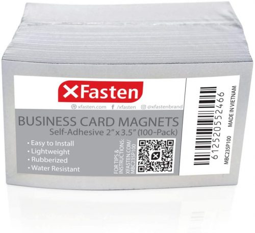 5. XFasten Self Adhesive Business Card Magnets