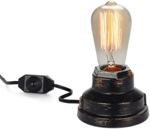 3. Seaside Village Vintage Desk Lamp - Retro Lamps
