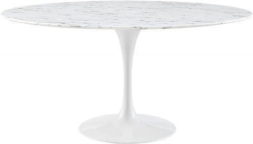 "8. Modway Lippa 60"" Mid-Century Table with Round"