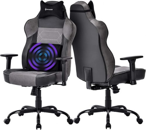 5. Big and Tall Massage Gaming Chair- Heated Office Chair