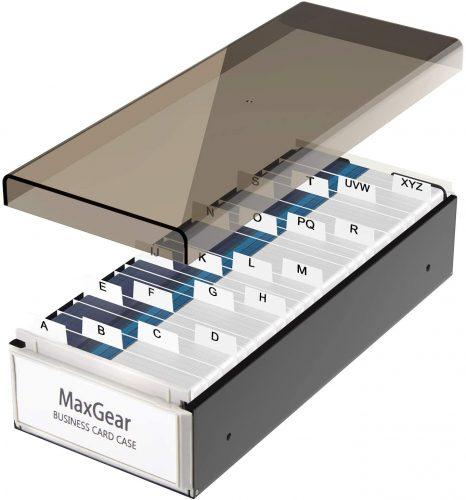 10. MaxGear Business Card Holder Box Business Card Box