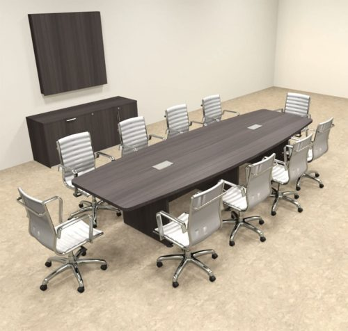 8. Modern Boat Shapedd 12' Feet Conference Table