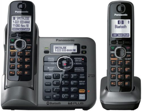 Panasonic KX-TG7642M DECT 6.0 Link-to-Cell via Bluetooth | 2 Line Cordless Phones