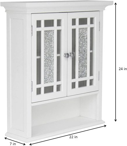 4. Elegant Home Fashions Whitney Bathroom Wall Cabinet