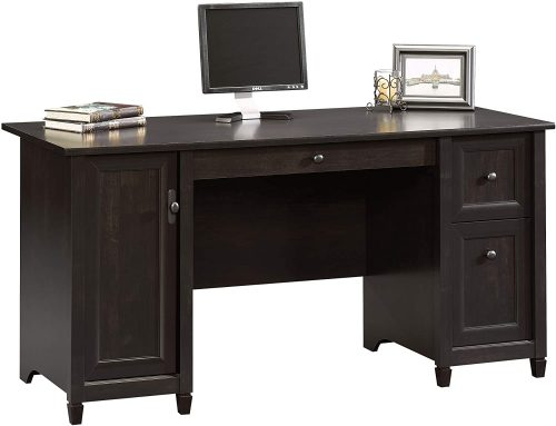 1. Sauder Edge Water Computer Desk, Estate Black finish