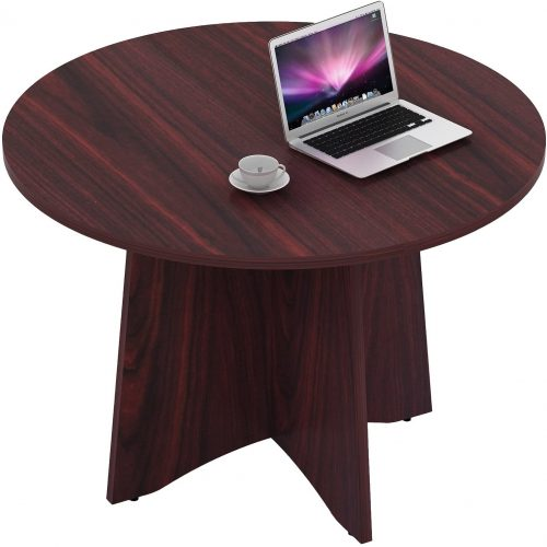 4. Sunon 48 Inch Laminate Round Conference Table Dining Table
