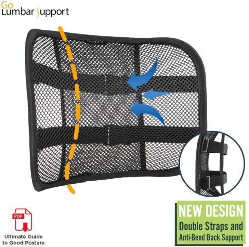 10. Go Lumbar Support's Breathable Mesh Lumbar Back Cushion
