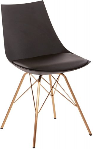 8. AVE SIX Oakley Faux Leather Task Chair with Gold Chrome Base