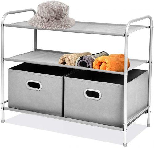 9. MaidMAX 3 Tiers Closet Shelf Organizer