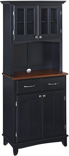 3. Buffet Black Kitchen Cabinet by Home Styles - Cherry Kitchen Cabinets