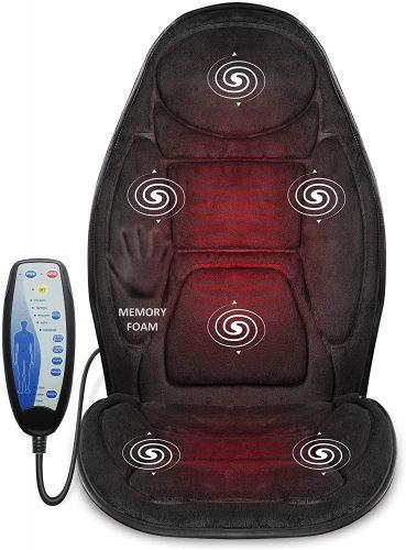 8. Snailax Memory Foam Massage Seat Cushion - Heated Office Chair