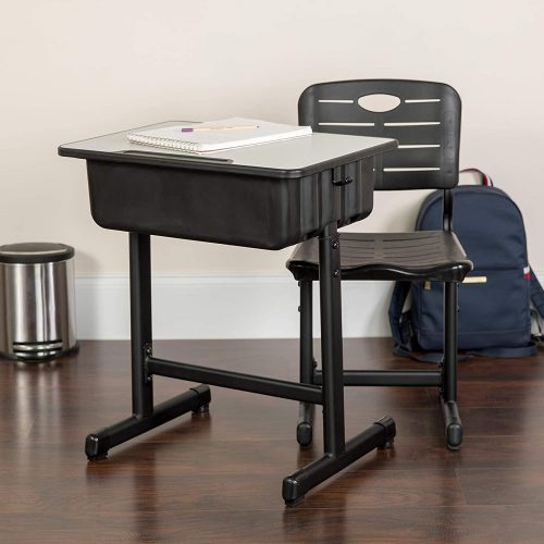 5. Flash Furniture Adjustable Height Student Desk