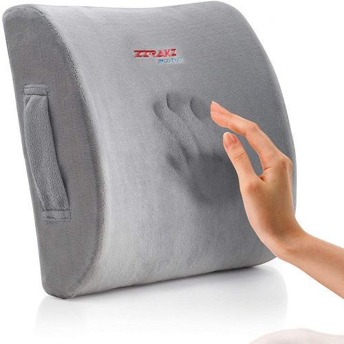 3. Zaraki Memory Foam Lumbar Cushion