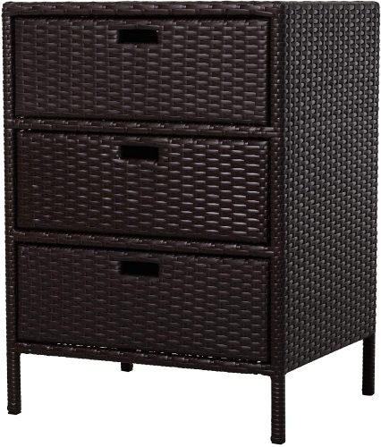 8. Outsunny Rattan Indoor Storage Cabinet