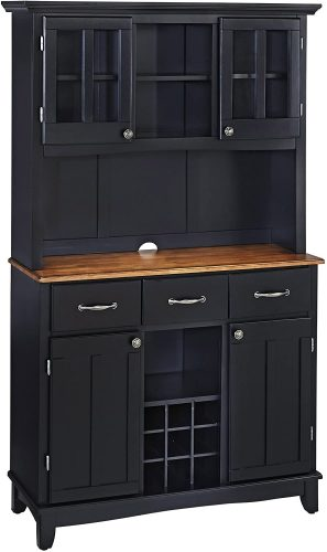 1. Buffet of Buffets Kitchen Cabinet by Home Styles - Cherry Kitchen Cabinets
