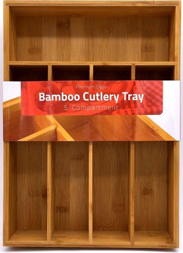 2. Utopia Kitchen Bamboo Silverware Organizer
