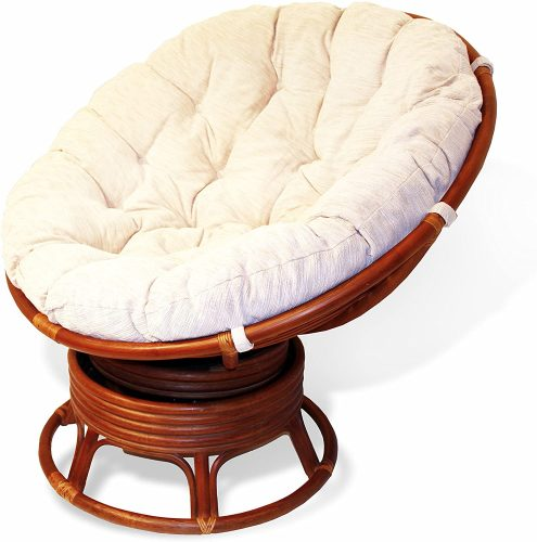 Rattan Wicker Swivel Rocking Round Papasan Chair- Outdoor Papasan Chair