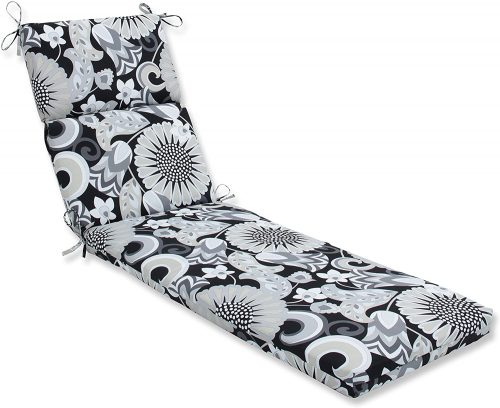 Pillow Perfect Sophia Graphite Chaise Lounge Cushion - Replacement Cushions For Wicker Furniture
