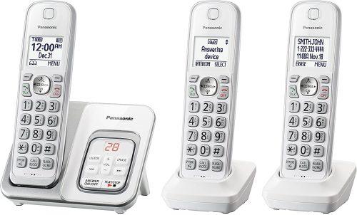 PANASONIC Expandable Cordless Phone System | 2 Line Cordless Phones