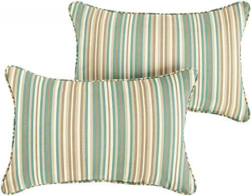 Humble and Haute Corded Lumbar Pillow - Replacement Cushions For Wicker Furniture