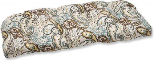 8. Pillow Perfect Outdoor/Indoor Tamara Paisley Quartz