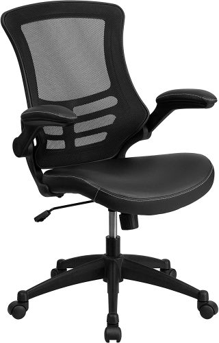 8. Flash Furniture Mid-Back Black Mesh Swivel Task Chair