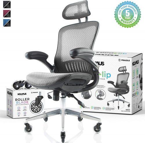 4. NOUHAUS Ergo Flip! Mesh Computer Chair
