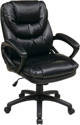 1. Office Star Faux Leather Office Chair