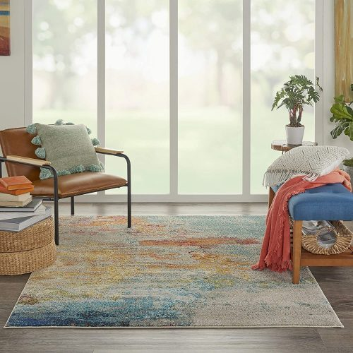 10. Nourison Celestial Modern Abstract Area Rug
