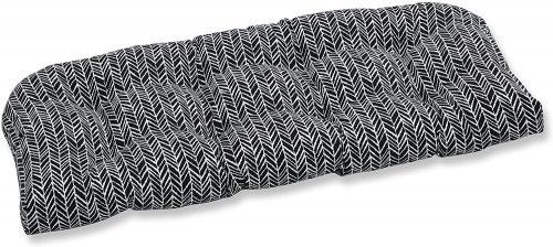 9. Pillow Perfect Outdoor/Indoor Herringbone Night Tufted