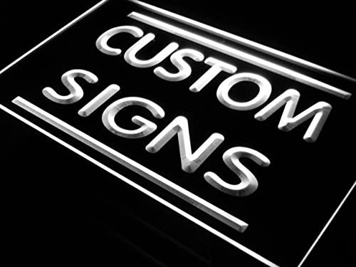 tm ADV PRO Custom Signs/Neon Signs/LED Signs/Edge Lit Signs/Your Own Design (16x12 inches, White)