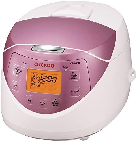 8. Cuckoo CR-0631F 6-cup Multifunctional Micom Rice Cooker