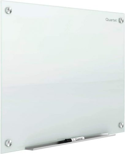 3. Quartet Glass Whiteboard, Magnetic Dry Erase White Board