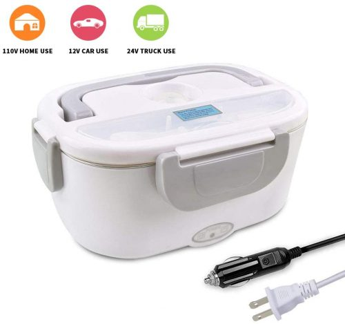 4. Electric Lunch Box - Toursion Portable Food Heater 2 in 1 for Car