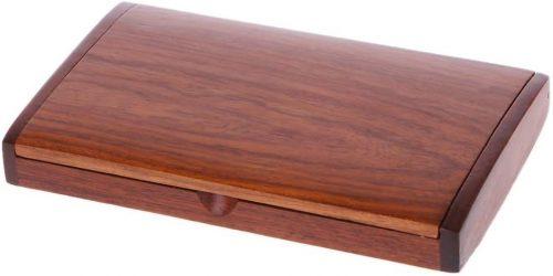 9. SimpleLif Wood Business Card Case Holder Handmade