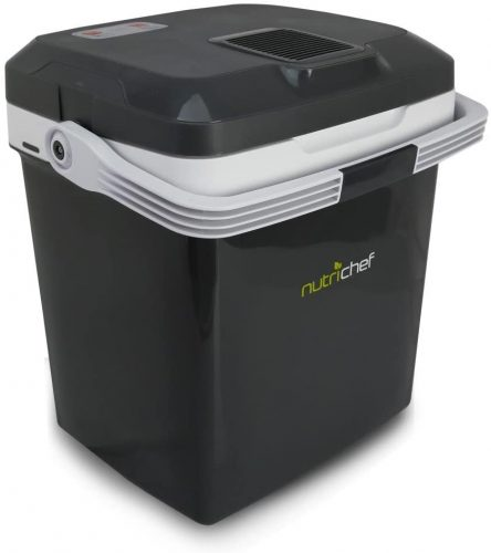 1. NutriChef PKTCEC28SL Portable Electric Cooler Fridge/Food Warmer