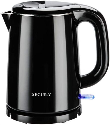 7. Secura Stainless Steel Double Wall Electric Kettle - Stainless Steel Kettle