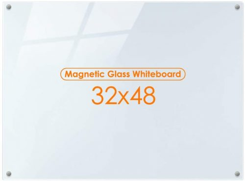 7. Magnetic Glass Whiteboard Dry Erase Board