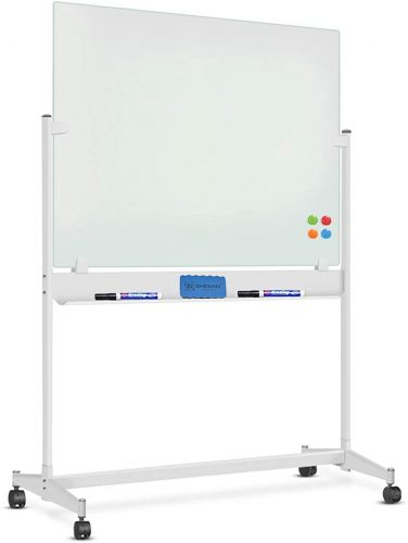2. Mobile Glass Whiteboard - 48 x 36 Inches