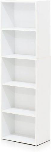 1. Furinno 11055WH 5-Tier Reversible Color Open Shelf Bookcase