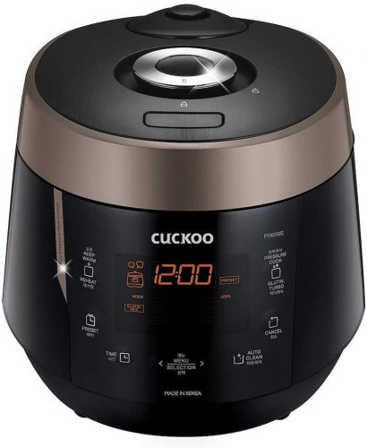 3. Cuckoo CRP-P0609S 6 cup Electric Heating Pressure Rice Cooker