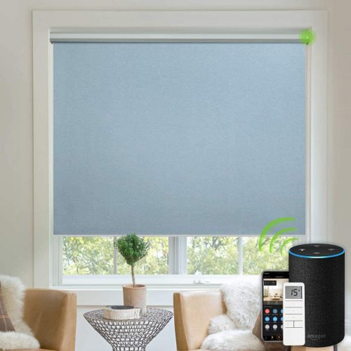 Yoolax Motorized Blinds Blackout Fabric Automatic Shades