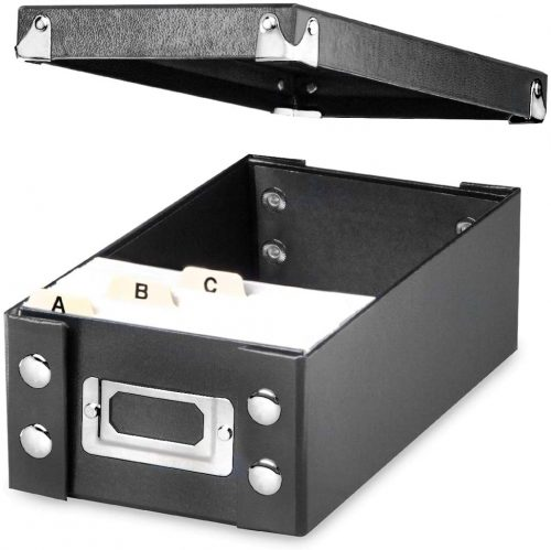 2. Snap-N-Store Durable Collapsible Index Card File
